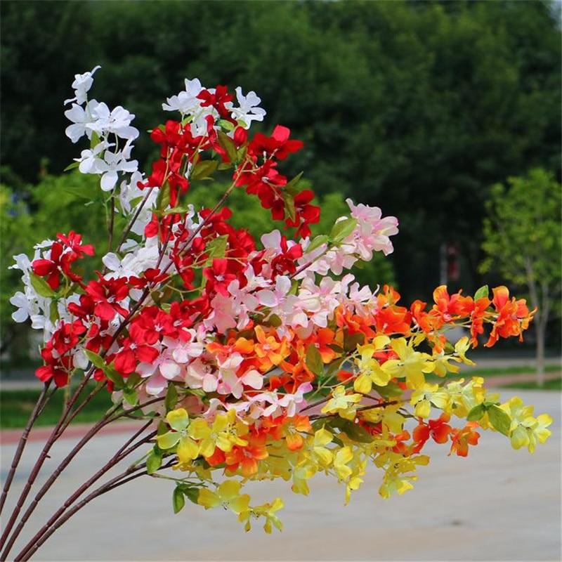 """Falso longo haste dogwood flor (3 hastes/peça) 41.34 """"comprimento simulação fructus corni para casamento casa flores decorativas"""