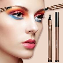 1PC Fashion Waterproof Eyebrow Pencil 3D Microblading Four-claw Tint Tip Tattoo Eyebrow Fine Sketch Liquid Eyebrow Cosmetics