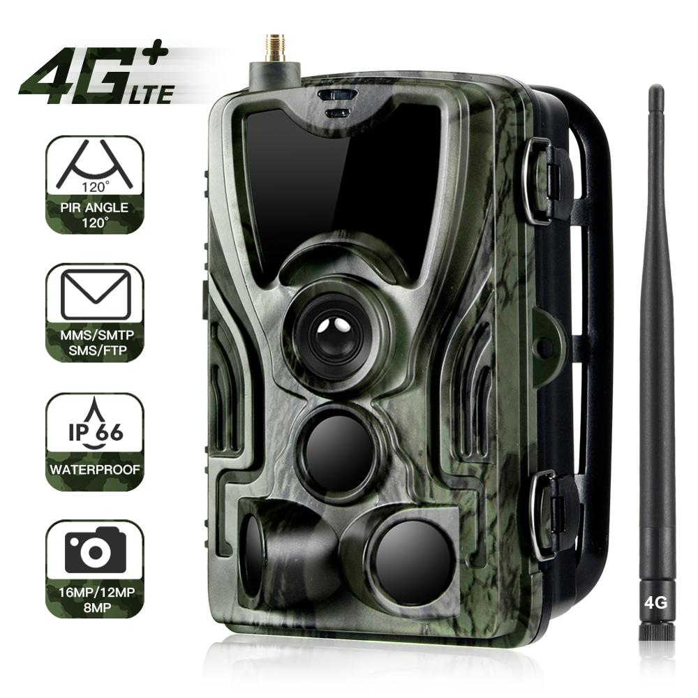 HC801LTE 4G Trail Camera MMS SMS Email Hunting Camera 20MP 1080P 940nm IR LED Night Vision Wild Camera 0.3s Trigger Photo Traps недорого