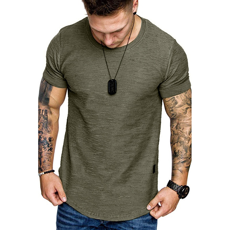 842.Men's fashion casual short sleeves