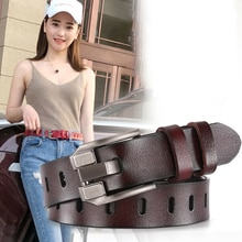 DINISITON Women's Belt Genuine Leather Belts Ladies Luxury Brand Retro Strap Fashion High Quality Cowgirl Female Belt For Jeans