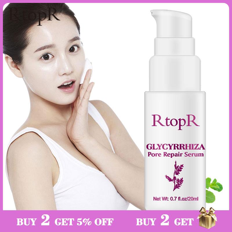 RtopR Glycyrrhiza Face Pore Repair Serum Collagen Face Anti Wrinkle Whitening Cream Oil Control Hydrating Effective Shrink Pores