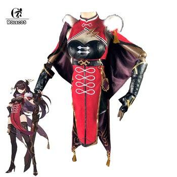 ROLECOS Game Genshin Impact Beidou Cosplay Costume Beidou Dress Cosplay Game Genshin Impact Costume Cloak Gloves Women Halloween