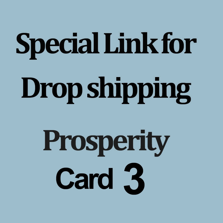CSJA Special Link for Drop Shipping Customer to pay your order -  Prosperity A012