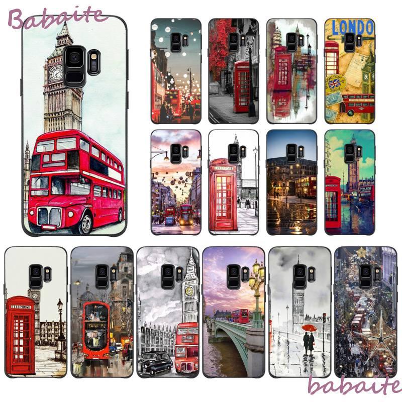 Babaite autobús de Londres Inglaterra teléfono británico carcasa para Samsung J2PRO J4 2018 J415 4PLUS 5 2016 5 Primer 6 2018 600 7 737 6PLUS de