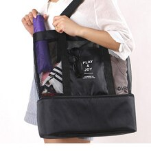 Portable Lunch Storage Bag Fashion Travel Double Insulation Picnic Bag Shopping Bag Grid Storage Bag Drop Ship 2020 New Handbag