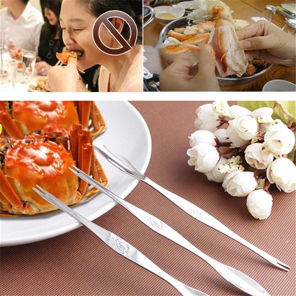 5 шт./10 шт. игла для крабов-омаров из нержавеющей стали, многофункциональная игла для грецких орехов, фруктовая вилка, кухонные гаджеты, инстр...