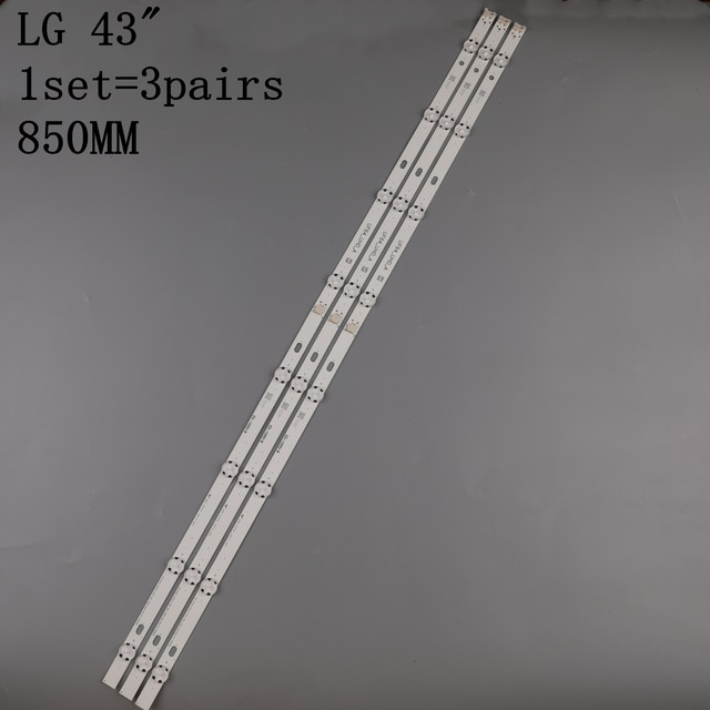 Светодиодная подсветка 3 шт x 43 дюйма для LG 43uh619v 43UH610V 43UH6030 UF64 UHD _ A 43LH5700 43LH60FHD HC430DGG SLNX1 43UF6400 43LG61CH