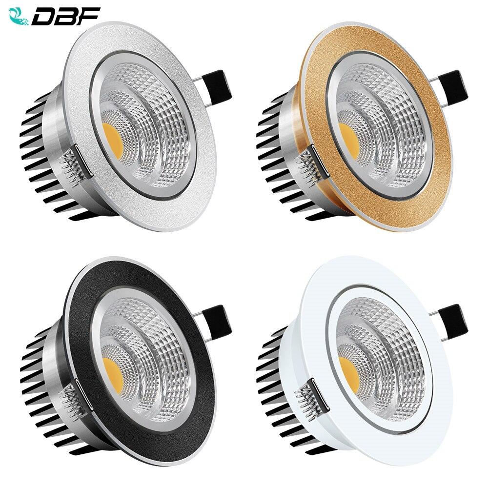 DBF-Lámpara empotrada regulable para el techo, Lámpara decorativa de techo, 6W, 9W,...