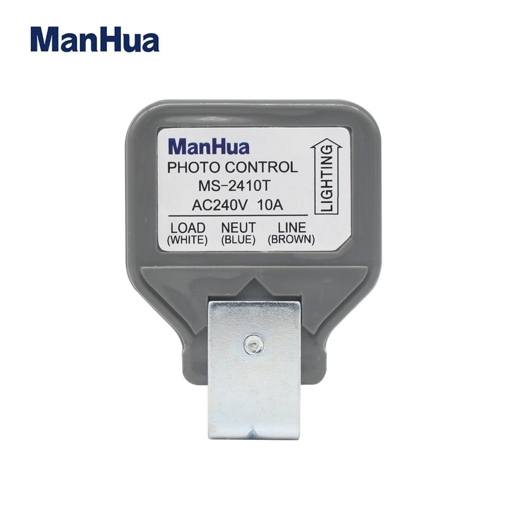 Manhua 10A,240VAC Photocontrol electronic light sensor switch model MS-2410T