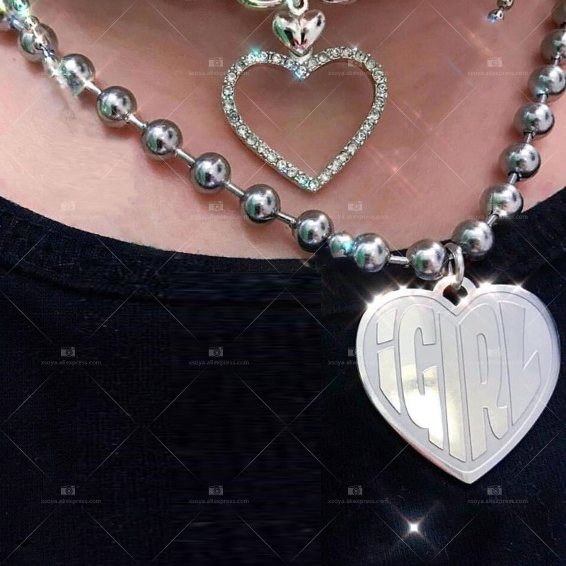 Harajuku meninas punk moda pingente colar internet ela diabo mulher gótico de aço inoxidável colares feminino doce collare cl113