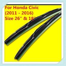 "Silecek Blade Honda Civic 9th nesil (2011-2016), boyutu 26 ""& 18"""