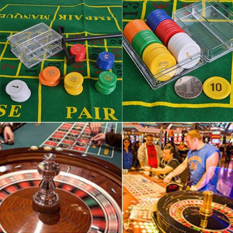 10-дюймовая рулетка, набор игр, рулетка для казино, рулетка с настольной тканью, покерные чипы для бара, KTV, вечеринки, игра Borad-3