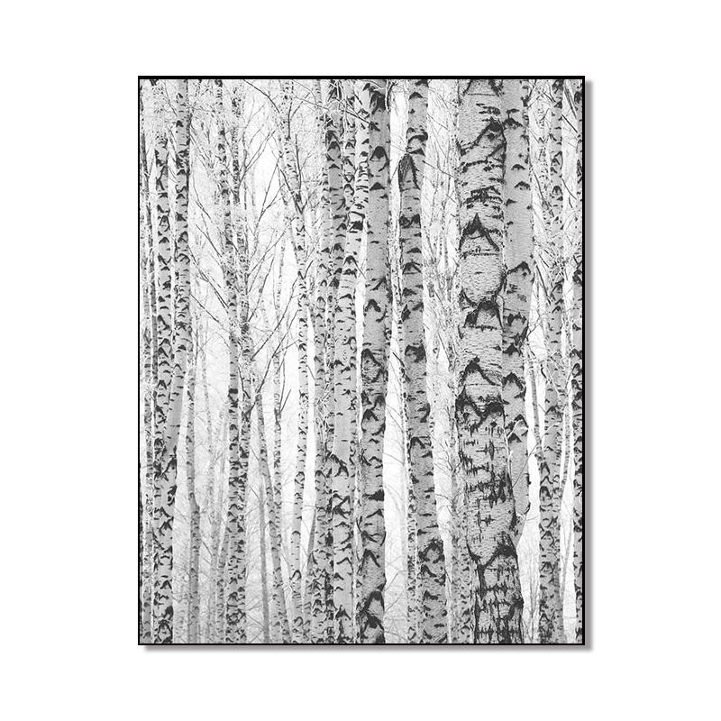 Modern Nordic Minimalist Style Black and White Elk Bare Tree Canvas Art Wall Painting Home Decoration Frameless Printed Poster  - buy with discount