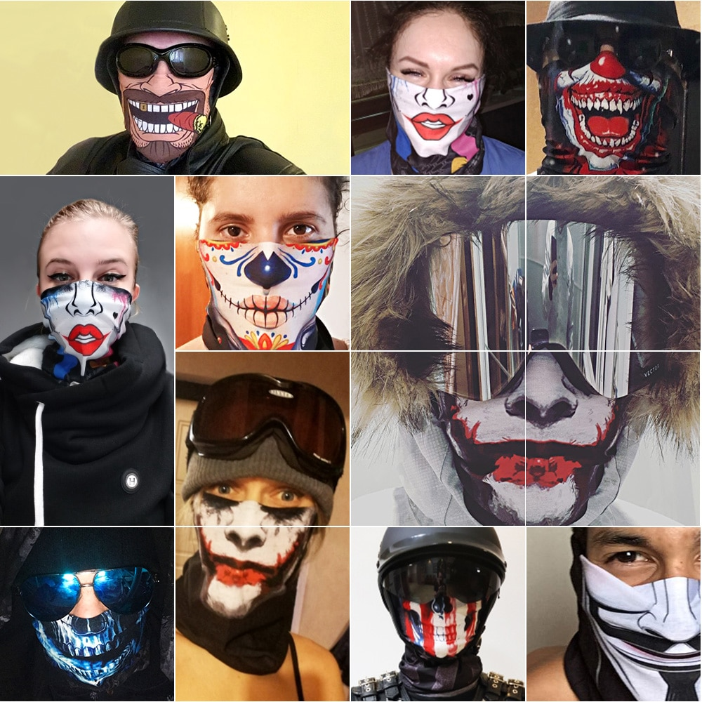 JAER Men Women Windproof 3D Seamless Neck Gaiter Face Mask Balaclava Shield Camp Cycling Fishing Biker Bandana Headband Scarf