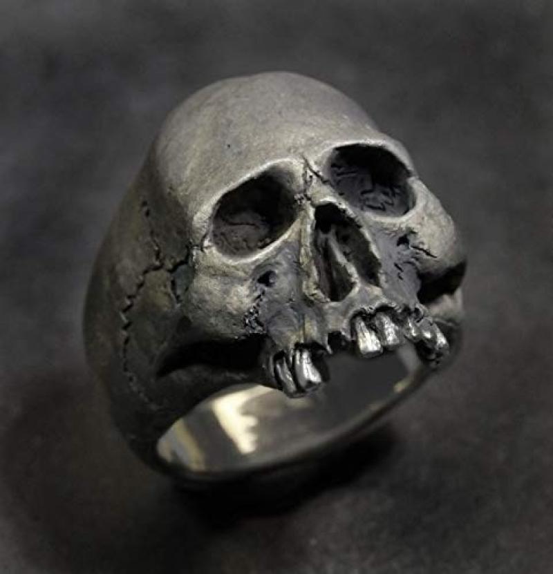 Men's Punk Retro Stainless Steel Skull Ring Gothic Horror Skull Party Ring Fashion Men's Jewelry Gift