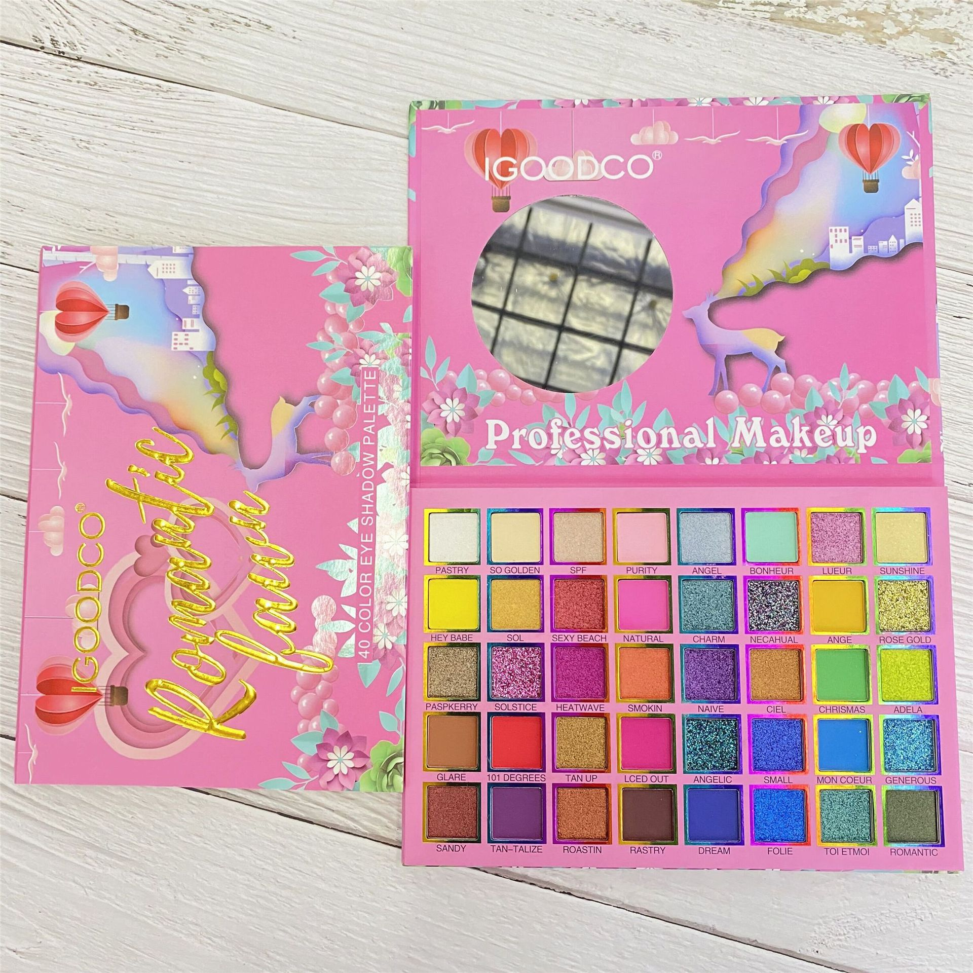 40 Colors Cartoon Pearlescent Matte Sequins Large Multi-Color Eyeshadow Palette