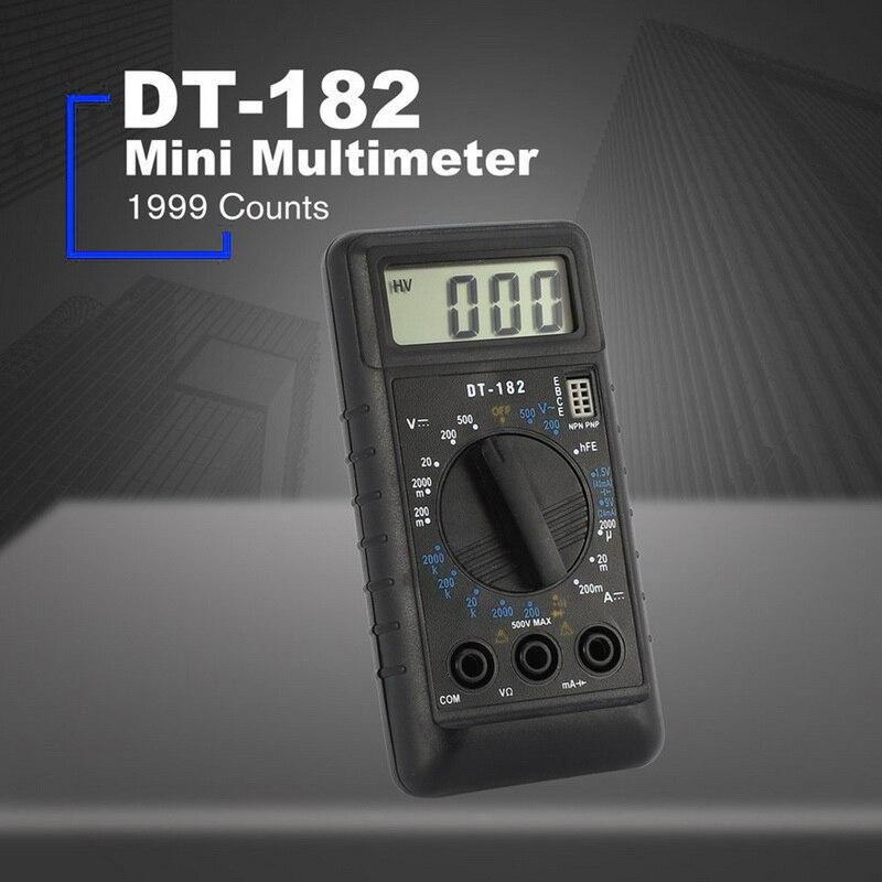Multímetro digital com teste de bolso portátil ac/dc tensão eletrônico medidor equipamento lcd portátil ferramenta dt182