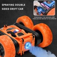 360 градусов вращающийся спрей двусторонний трюк Rc автомобиль 2,4G детская зарядка анти-осень опрокидывание ведро скручивание трюк автомобил...