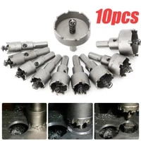 10pcs 16 50mm carbide tip tct drill bit hole saw stainless steel alloy tools
