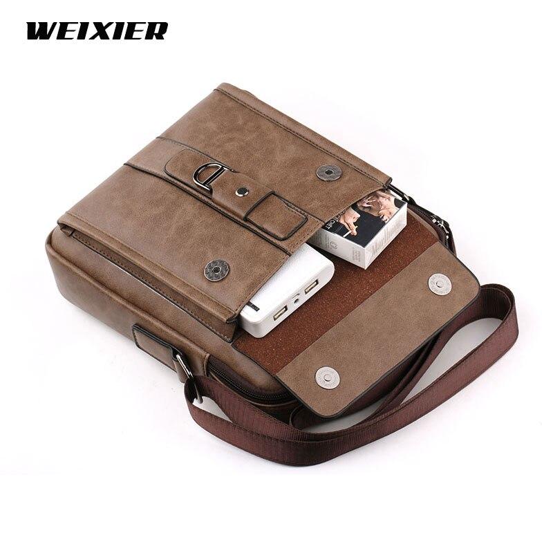 Vintage Men PU Leather Brand Shoulder Bag Men Messenger Bags Male Crossbody Handbag Tote Bags Business Casual Bags For Men