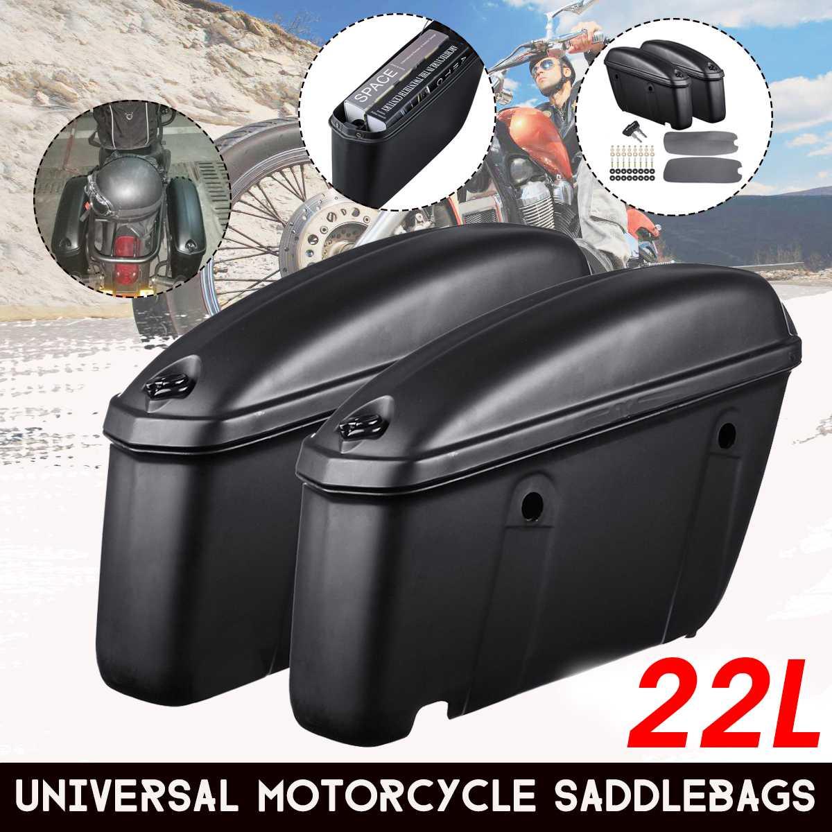 Par 22l motocicleta sela saco tronco caso caixa de bagagem lateral alforjes para suzuki/yamaha/honda