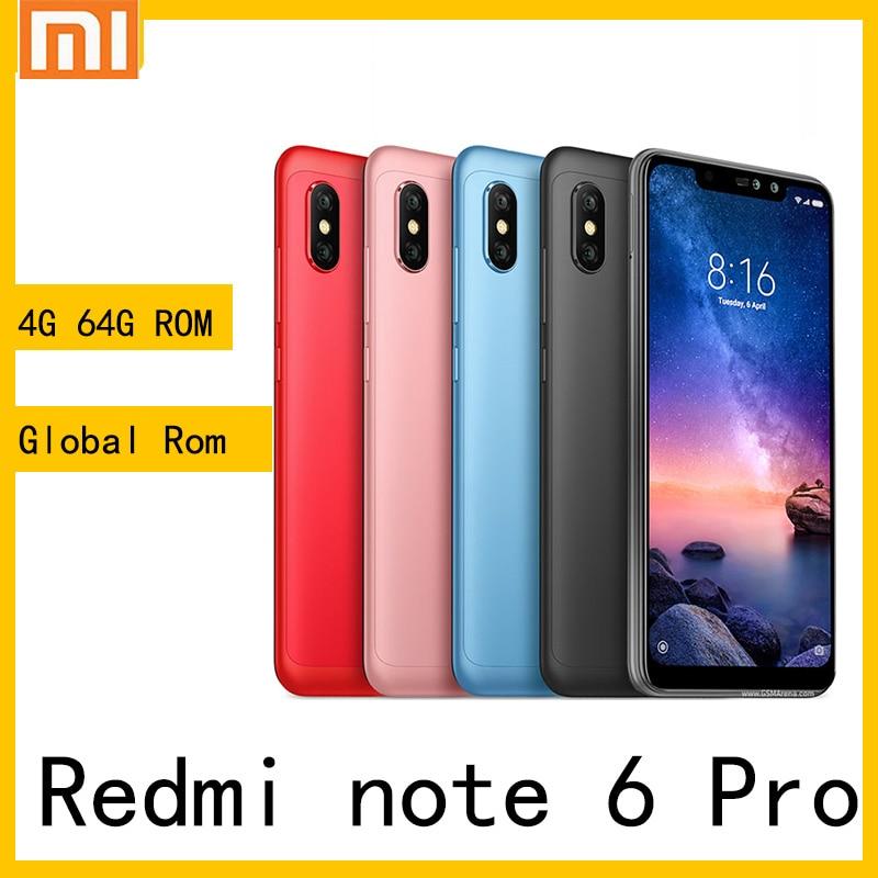 Xiaomi redmi note 6 pro smartphone Android Teléfono Móvil Snapdragon 636 de...
