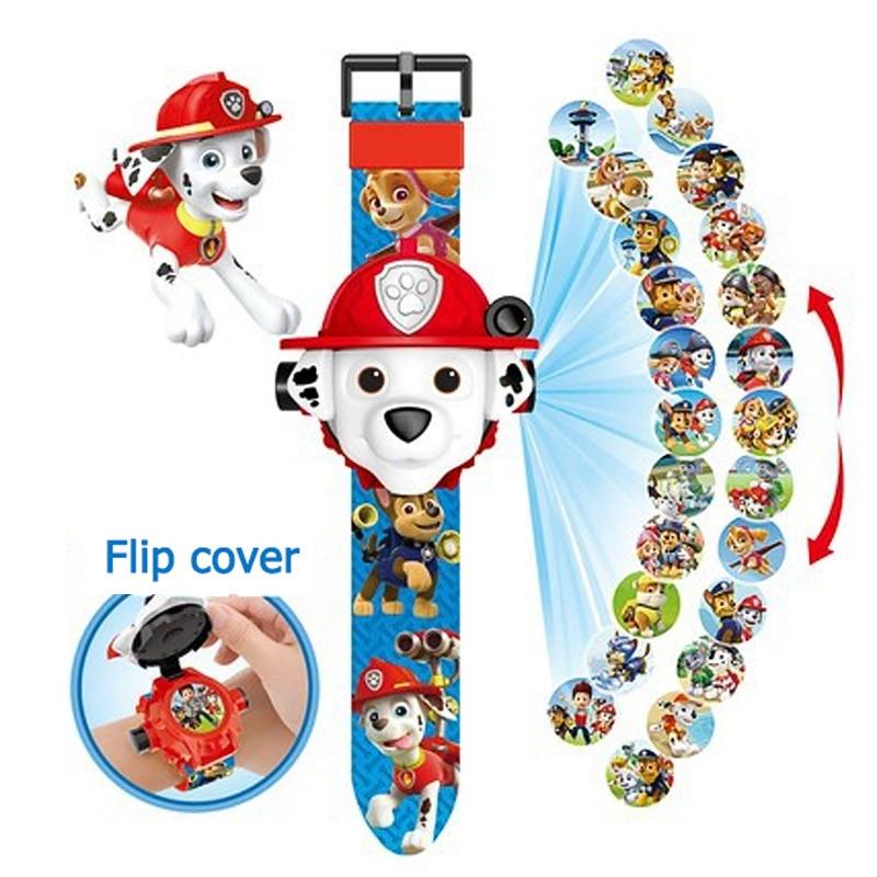 Reloj Digital de la patrulla Canina, reloj de dibujos animados con 24 estilos, proyección de la patrulla Canina, regalo de Navidad