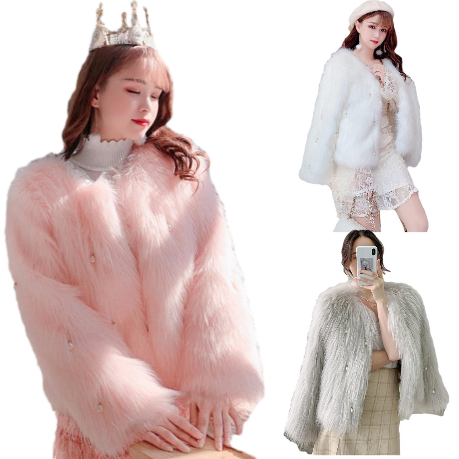 Korean Version Imitation Fox Fur Short Fur Coat  Faux Fur Coat Fur Jacket Fur Coat Winter Coat Women Coats and Jackets Women фото
