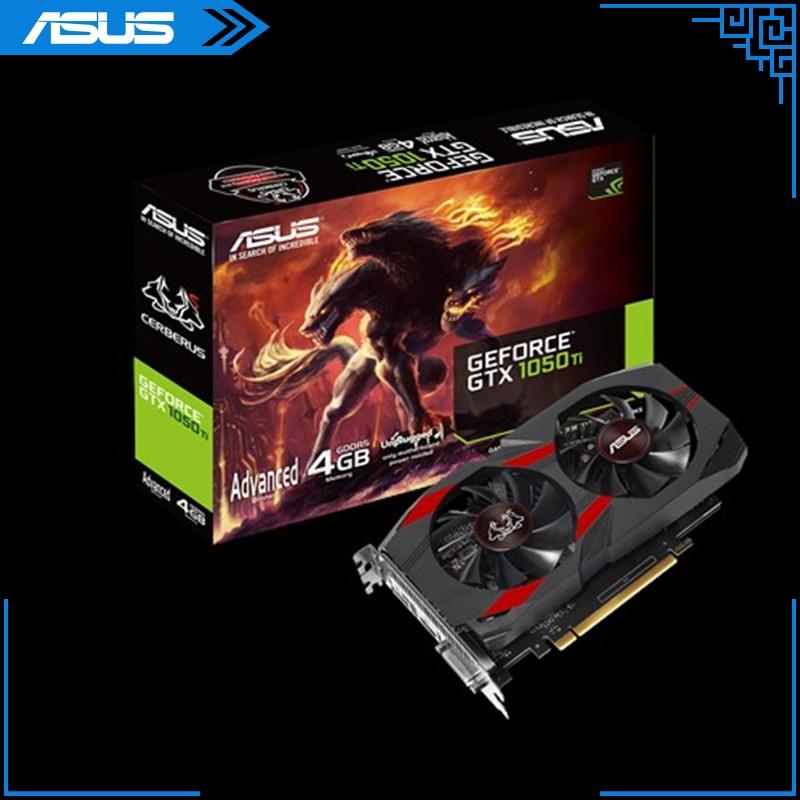 ASUS-tarjeta gráfica CERBERUS-GTX1050TI-A4G, Cerberus GeForce®GTX 1050 Ti edición avanzada 4GB GDDR5 de...