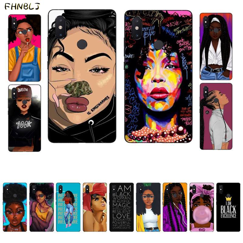 Funda de teléfono FHNBLJ de Arte Africano negro para Xiaomi 5 6 plus 6x8 8se 8lite 9 9se 5x10 pro Note10lite