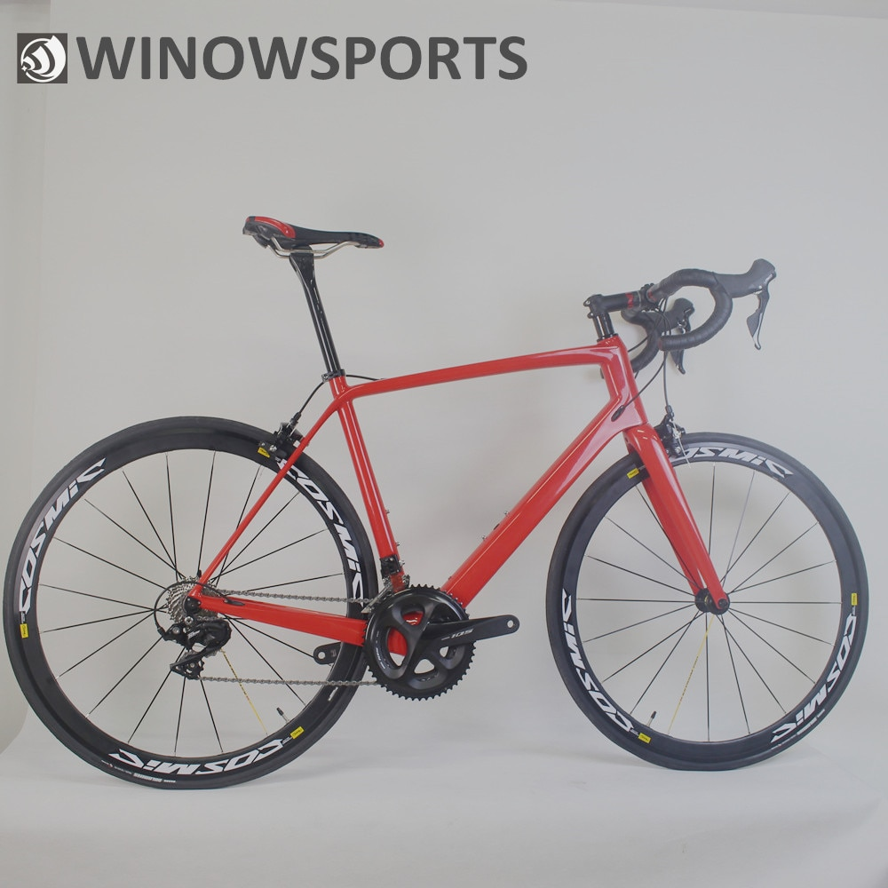 Completa bicicleta de carbono ciclismo estrada shiman r7000 hardtail quadro bicicleta com mavic cosmic elite s700c