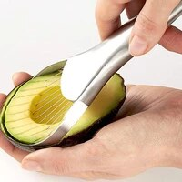 stainless steel avocado nuclear slicer 2 in 1 vegetable fruit grater creative multifunctional kitchen gadget accessories