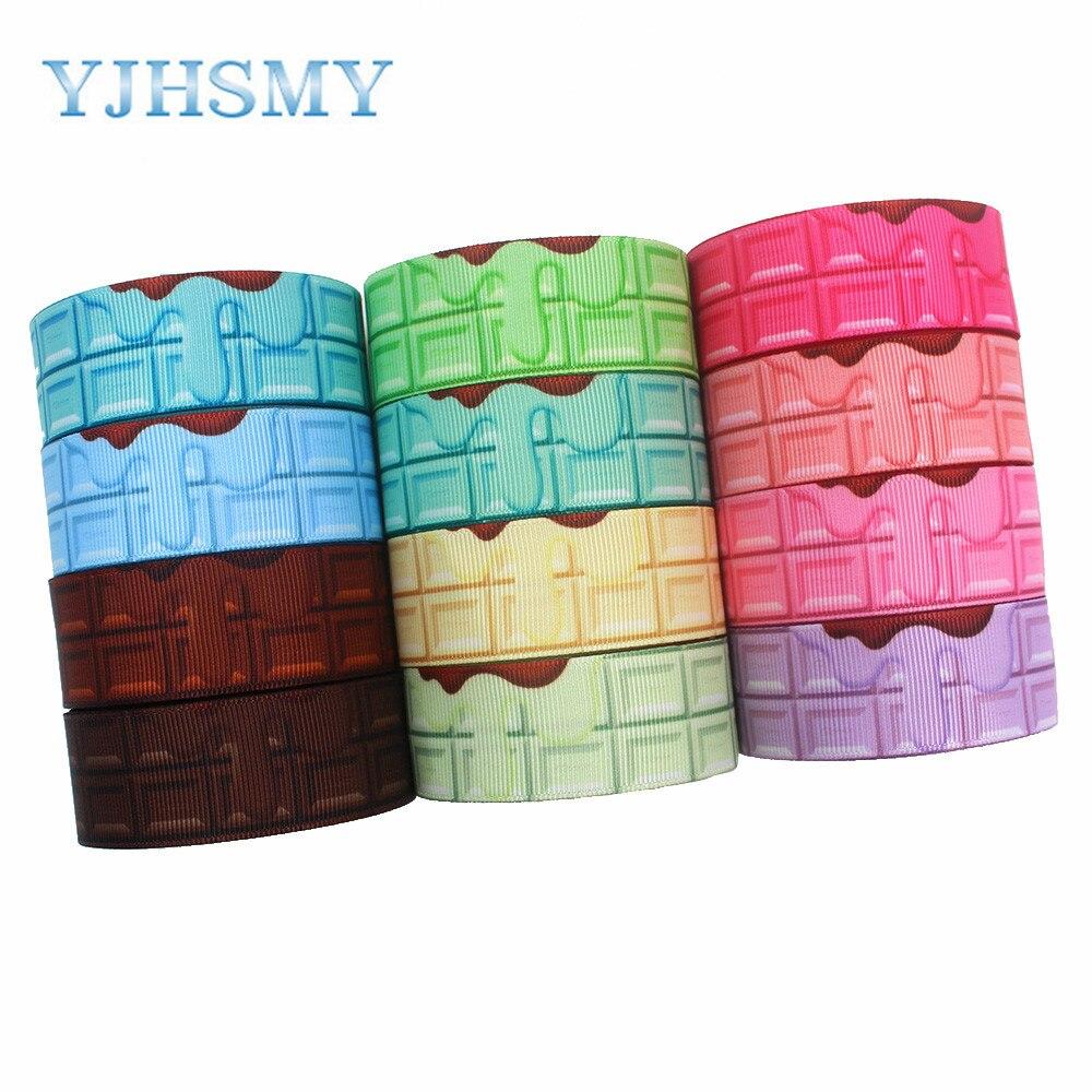 YJHSMY I-191123-2595, 25mm 10 yardas Lava Multicolor cintas geométricas de grogrén, gorra de lazo, ropa, decoraciones de fiesta DIY