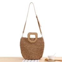 summer shoulder bag straddle hand carrying straw woven bag fashion womens bag summer vacation hand woven bag crossbody bags