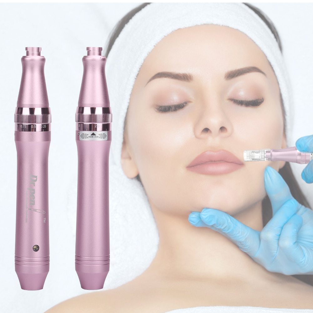 Dr Pen Ultima M7 with 12pin Bayonet Cartridge Professional Derma Pen Wired Mircroneedling Pen Machine Mesotherapy Facial Tool