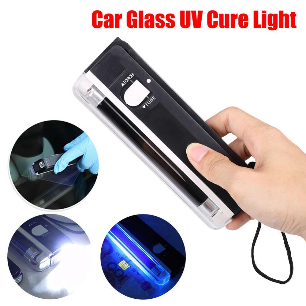 Auto Venster Hars Genezen Uv Lamp Voorruit Reparatie Tools Glas Film Curing Lamp Ultraviolet Detector