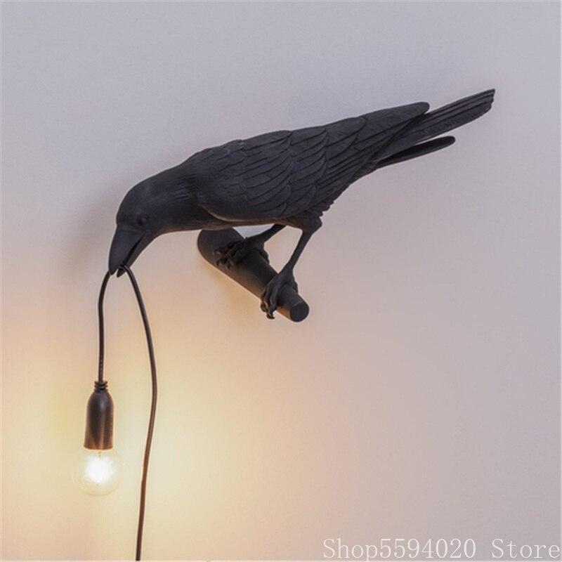 Italian Seletti Bird wall Lamp Nordic Living room lamp on the wall Bird Wall light Animal Bird Lamp Bird Light Fixtures