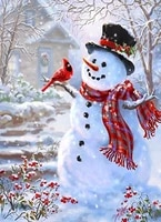5d diy diamond painting accessories snowman full square drill picture of rhinestones mosaic home decoration diamond art