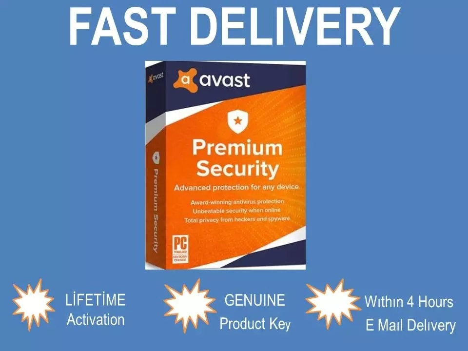 Avast Premium Security 2020 Fast Shipping 20 Years