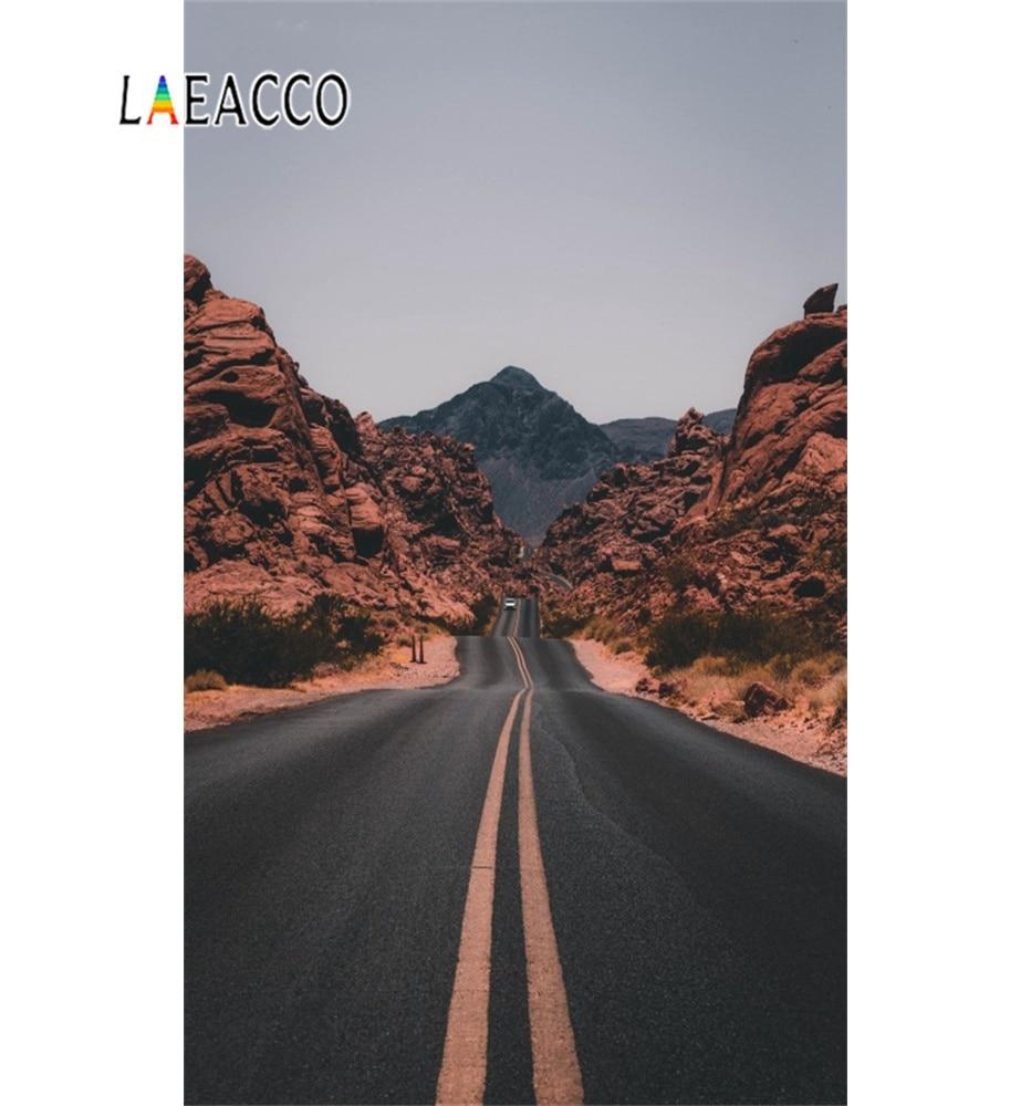 Laeacco Natrure Mountain Road Way West Plain USA escena fondo fotográfico fotografía telones de fondo para estudio fotográfico