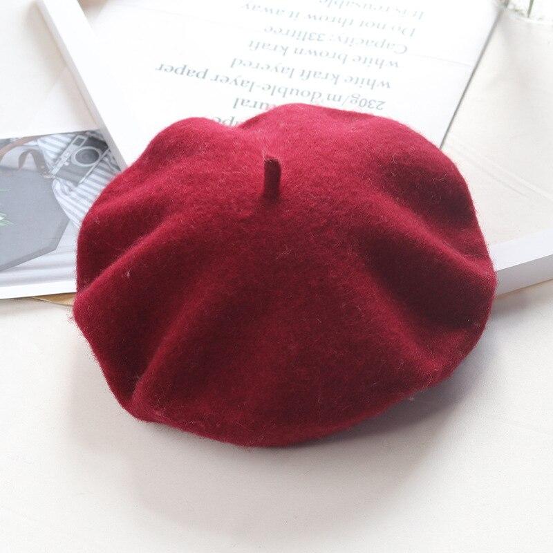 Warm Wool Winter Beret Women Hat Cap