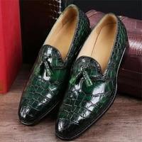Classic Alligator Pu Leather Slip-On Shoes Loafers Men  Fashion Zapatos De Vestir De Los Hombres Zapatillas De Deporte   XM141