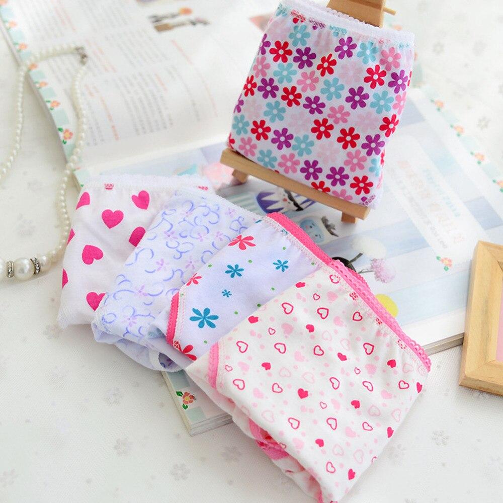6pcs/pack 2020 Fashion New Baby Kids Briefs Children For Short Panties Underpants Cotton Girls Underwear Girls