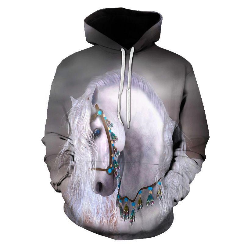 Толстовка с 3D рисунком лошади, толстовка, толстовки, мужская и женская одежда с животными, Мужская одежда, уличная одежда 2020, мужская одежда