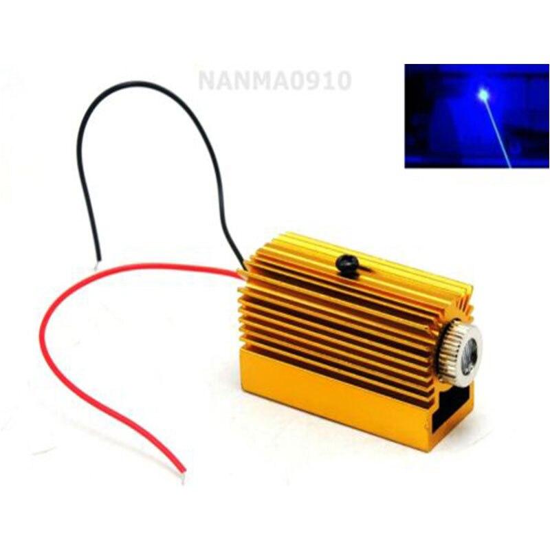 Фокусируемый синий лазерный модуль 450нм 50 мВт диодные огни 12x40 мм Вт 12 мм радиатор