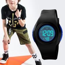 Boys Girls Students Waterproof Digital Watch Multifunction Casual Adjustable Strap BMF88
