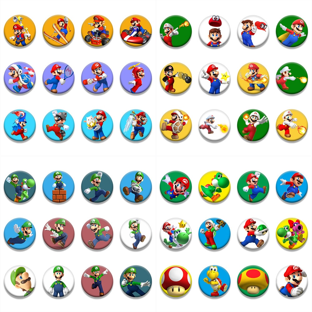 Значок с персонажами мультфильма «Супер Марио», значки в стиле аниме Луиджи Йоши, декоративные броши, металлические значки для одежды «сдел...