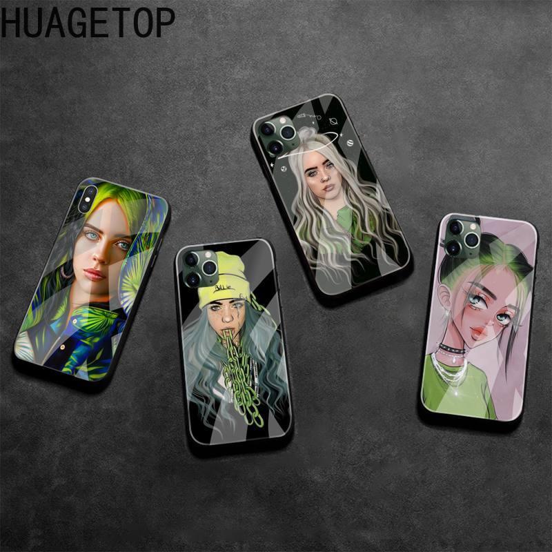 Global super recém-chegado menina billie coque escudo caso de telefone vidro temperado para iphone 11 pro xr xs max 8x7 6s 6 plus se 2020 caso