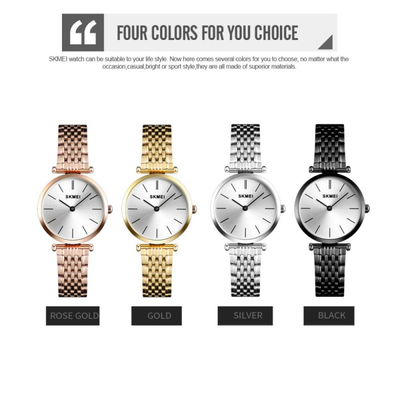 SKMEI Luxury Women Watch Fashion Casual Waterproof Quartz Watches Mesh Steel Strap Small Dial Ladies Wrist Watches Reloj Mujer enlarge